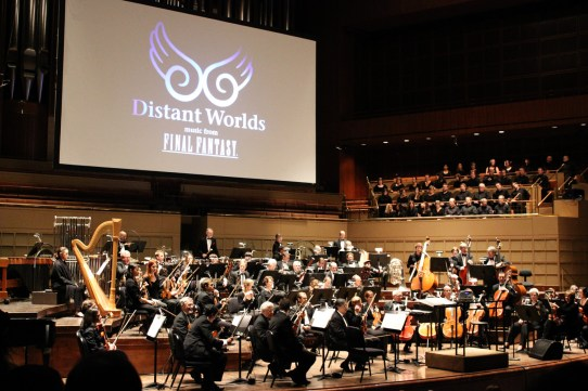 A New World: intimate music from Final Fantasy orchestra and chorus await their warm-up.