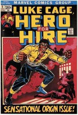Luke Cage, the first Black superhero to have his own book.