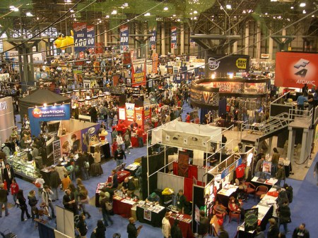 The main floor at New York Comic Con