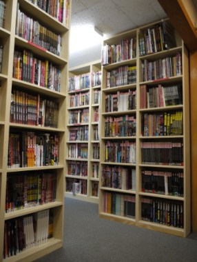 Graphic novels and trades paperbacks section