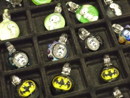 Batman-themed and other geeky glass artwork