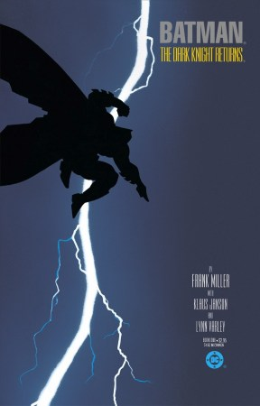 Cover art showing silhouette of Batman leaping with lightning behind him.