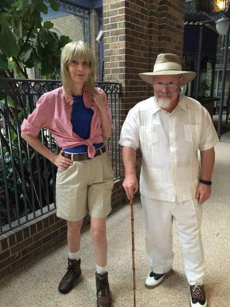 Ellie and Hammond Cosplay from Jurassic Park