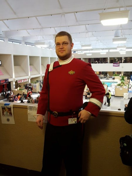 Peter the Great in Star Trek cosplay at CONVergence 2016