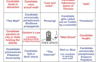 Debate bingo version A