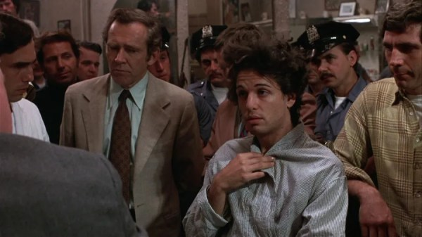 Chris Sarandon talking to the cops in Dog Day Afternoon.