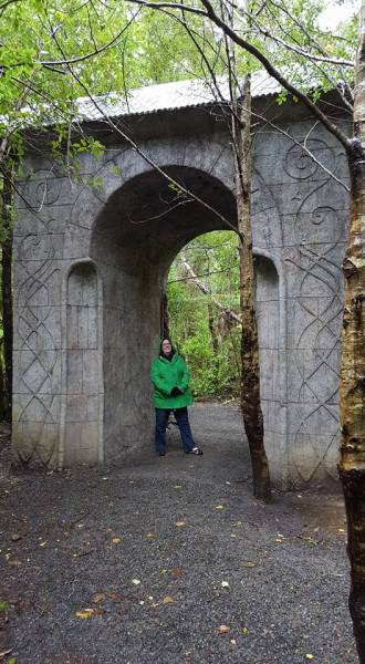 A smaller version of the entrance/exit to Rivendell
