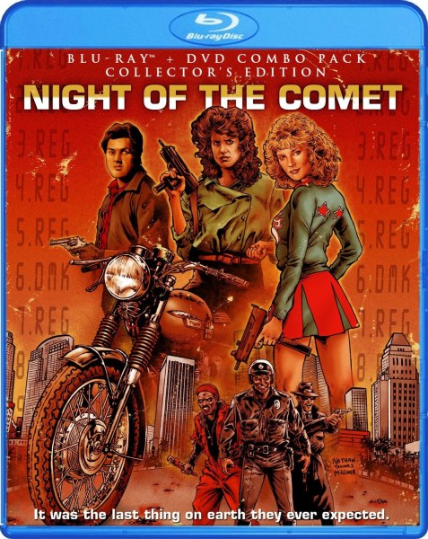 The updated artwork for Night of the Comet draws attention to the two female leadjs.