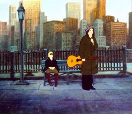 The guitar is prominent in this street scene in American Pop.