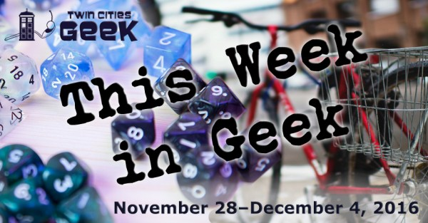 This Week in Geek header for the week of November 28, 2016