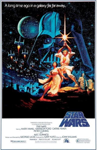 Star Wars theatrical movie poster.
