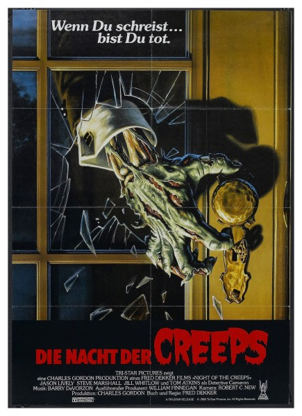 Night of the Creeps German poster.