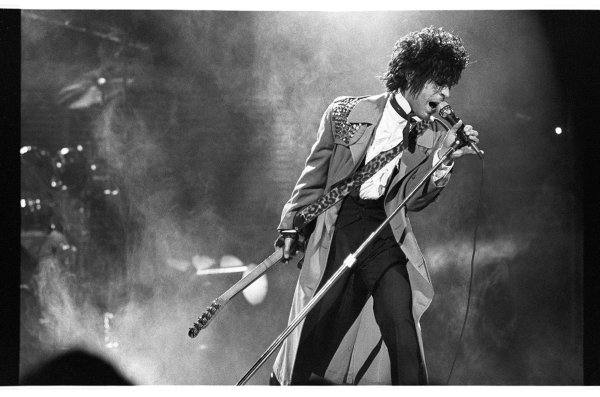 An iconic photo of Prince taken by Daniel Corrigan.