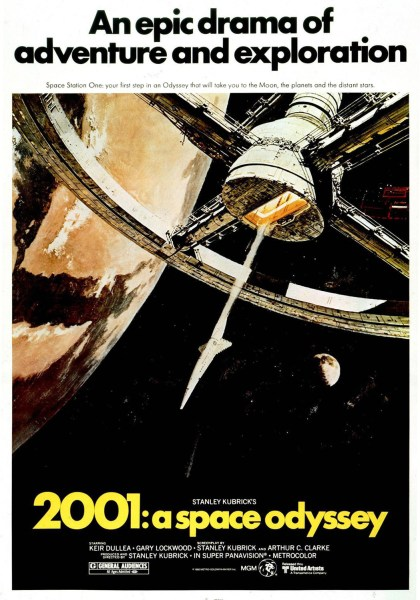 Theatrical poster for 2001: A Space Odyssey.