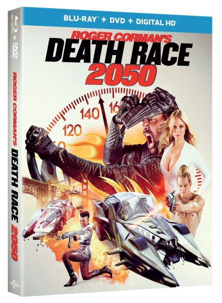 Blu-Ray, DVD, and digital HD combo pack of Death Race 2050