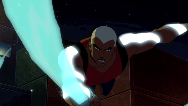 Action shot of Aqualad