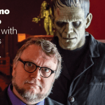 At Home with Monsters header, featuring Guillermo del Toro and a Frankenstein monster