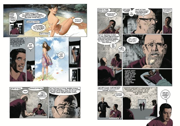 Pages 8 and 9 of American Gods #1