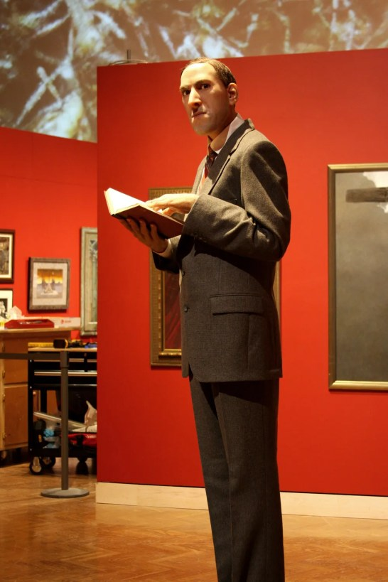 A life-size wax model of H. P. Lovecraft
