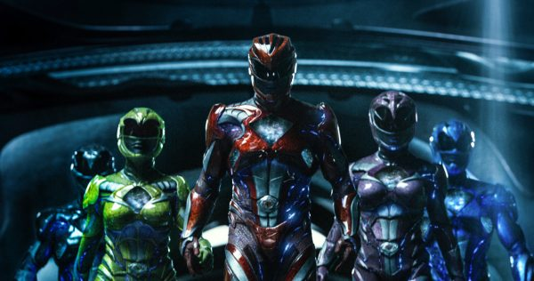 The Power Rangers, suited up.