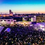 A colorful aerial view of the Bauhaus Brew Lab's Liquid Zoo 2017
