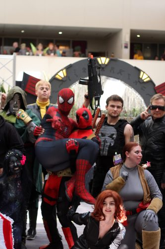 Cosplayers at CONvergence 2016