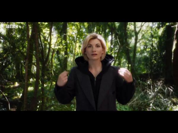 The 13th Doctor removes her hood
