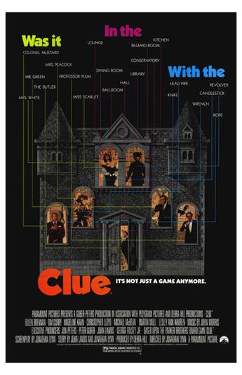 Theatrical poster for Clue.