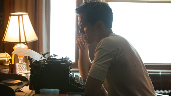 Salinger at the typewriter