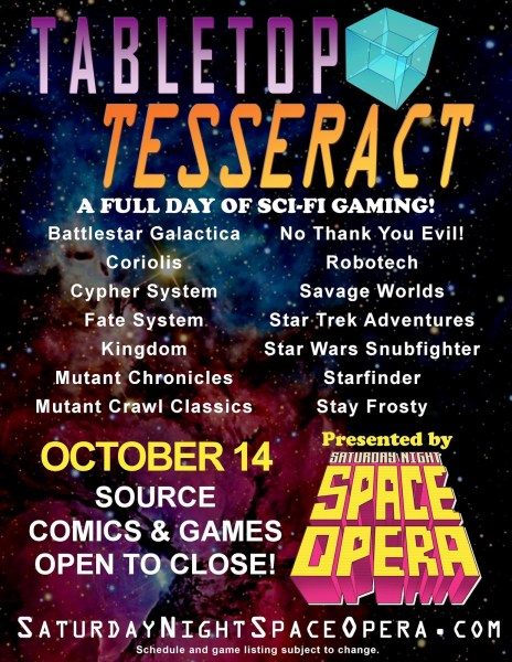 Tabletop Tesseract flyer