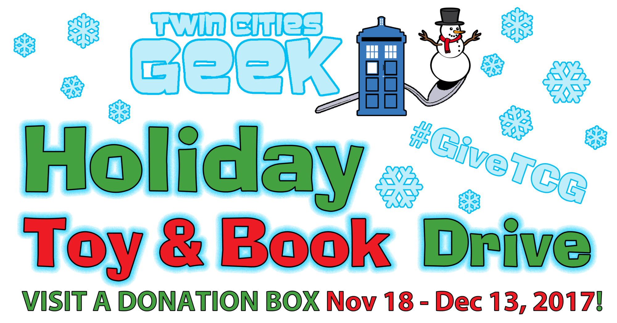 The 2017 Twin Cities Geek Holiday Toy & Book Drive Is Here