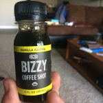 [small bottle of coffee titled Bizzy Coffee Shot]
