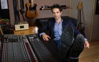 Jeff Russo sitting at the controls in his private studio. Photo courtesy of Impact24 PR