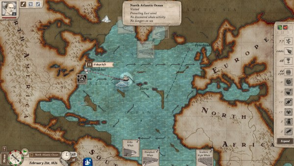 Screenshot of an ocean map from Nantucket.