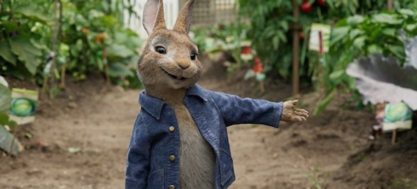 Peter Rabbit in the garden