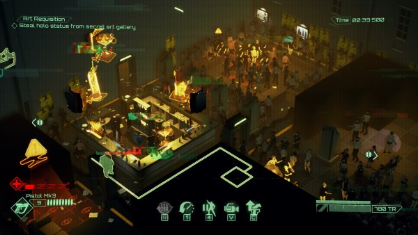 Gameplay screenshot of the interior of a gay club, the game's setting.