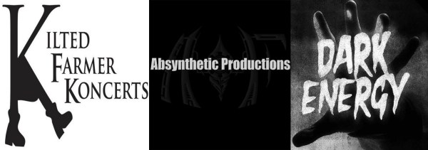 Logos for Kilted Farmer, Absynthetic, and Dark Energy