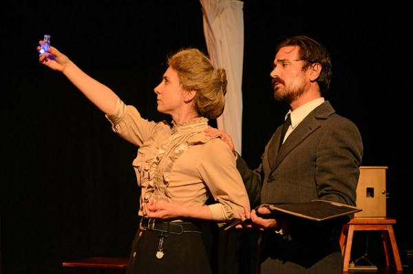 Marie and Pierre Curie (Sadie Bowman and Ricky Coates) discover Radium