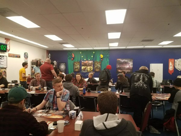 Magic: The Gathering players at a game store in Minneapolis.