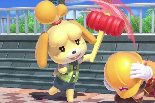 Isabelle with a hammer