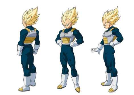 character sheet for Vegeta in Super Saiyan from