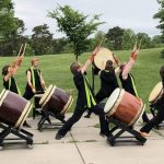 Harisen Daiko performers outside