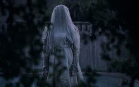 Ghostly woman in white