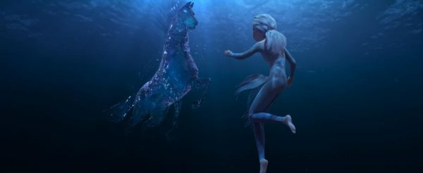 Elsa and a Nokk underwater