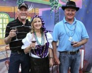 The Twin Coyote owners enjoying Mardi Gras