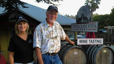 Steve and Lori at tasting room Sept 2015