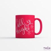 All is bright mug red