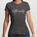 Gryffinpuff Ladies T Shirt Grey