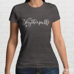 Slytherpuff Ladies Grey T Shirt