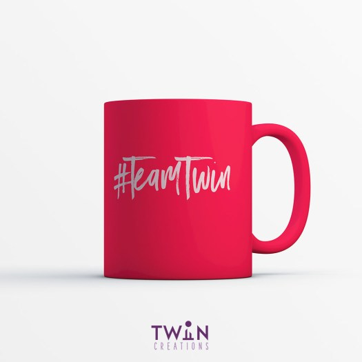 #TeamTwin Mug Red